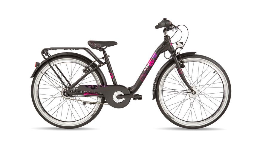 "s'cool chiX pro 24-7 Juniorcykel Barn 24"" svart"